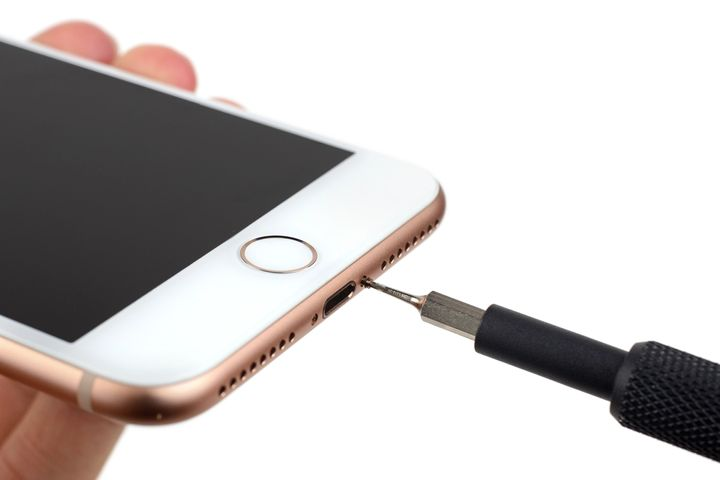 iPhone charge port, microphone and speaker clean